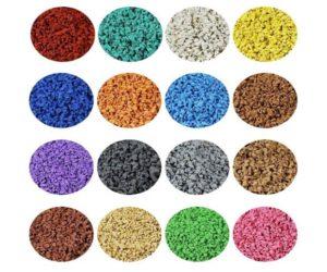 Запущенно в производство изготовление цветной резиновой  SBR и EPDM крошки.